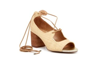 Bettye Muller Straw Natural Sandals