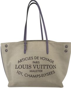 Louis Vuitton Tote in Beige - lavender lining