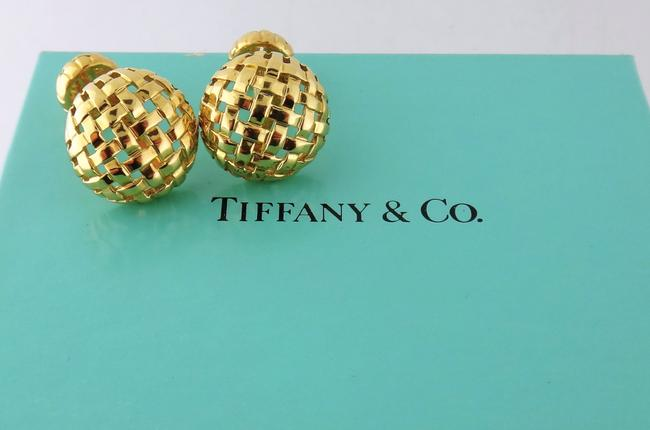 Tiffany & Co. 18k Yellow Gold Estate Vannerie Cufflinks/Studs Tiffany & Co. 18k Yellow Gold Estate Vannerie Cufflinks/Studs Image 1