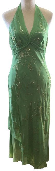Item - Silk Halter Mid-length Casual Maxi Dress Size 8 (M)
