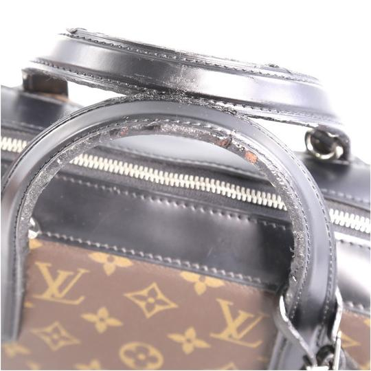Louis Vuitton Canvas Leather Satchel in Brown Image 5