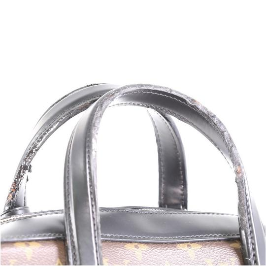 Louis Vuitton Canvas Leather Satchel in Brown Image 6