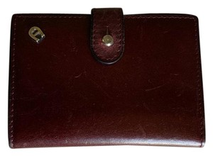 Etienne Aigner Vintage Leather Card Case W/Photo Sleeves