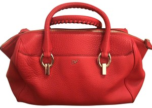 Diane von Furstenberg Satchel in Red/Burnt Orange
