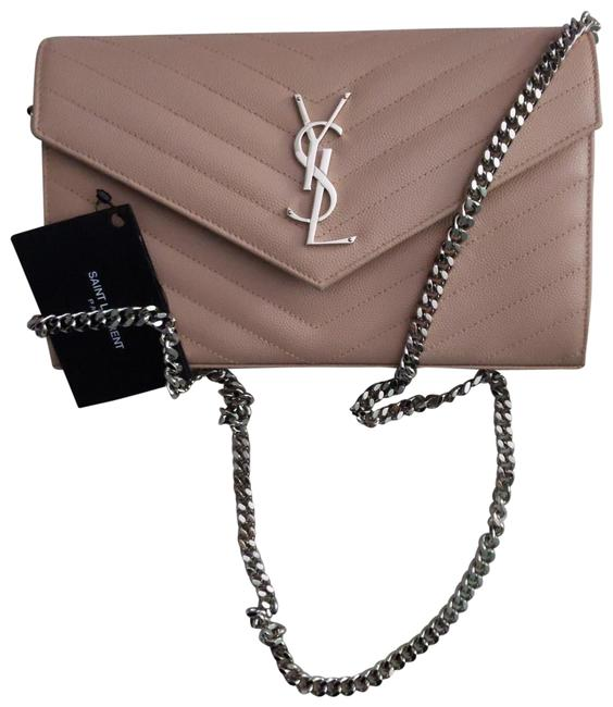 Item - Chain Wallet Monogram Pale Pink Leather Cross Body Bag