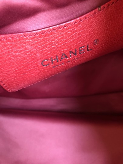 Chanel Leather Silver Hardware Tote in Pink Image 6