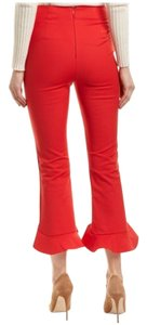 C/meo Collective Cropped Capris Back Zip Flare Pants Red