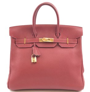 Hermès Tote Gold Hardware Hac 32 Hac Birkin Satchel in red Clemence