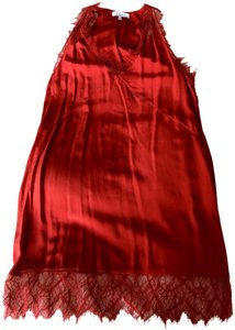 IRO short dress Red Slip Lace Silk on Tradesy