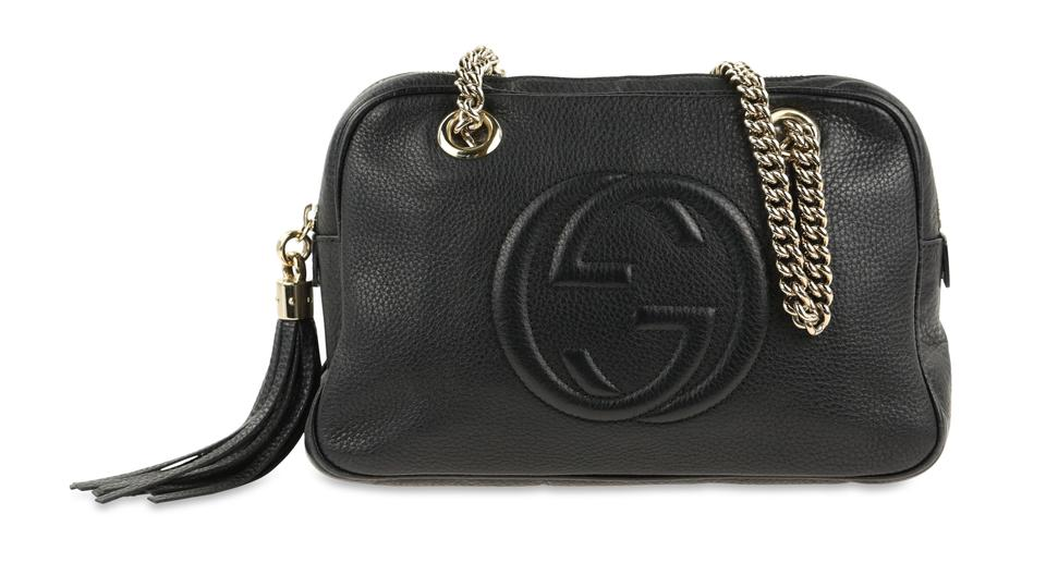 77c1fbe4 Gucci Soho Small Black Leather Shoulder Bag 48% off retail