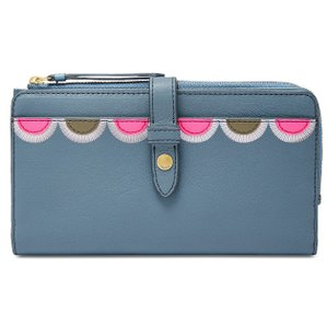 Fossil Fossil Fiona Leather Tab Wallet Clutch
