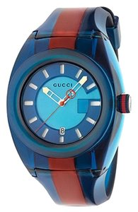 Gucci Sync XL Blue Dial Men's Two Tone Watch ya137112