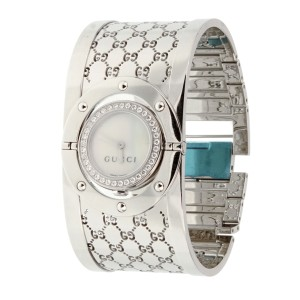 Gucci GUCCI Twirl Ladies Diamond Pave Stainless Steel Watch 1257