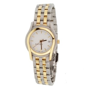 Gucci Gucci White Dial Two Tone Stainless Steel Quartz Ladies Watch 1259