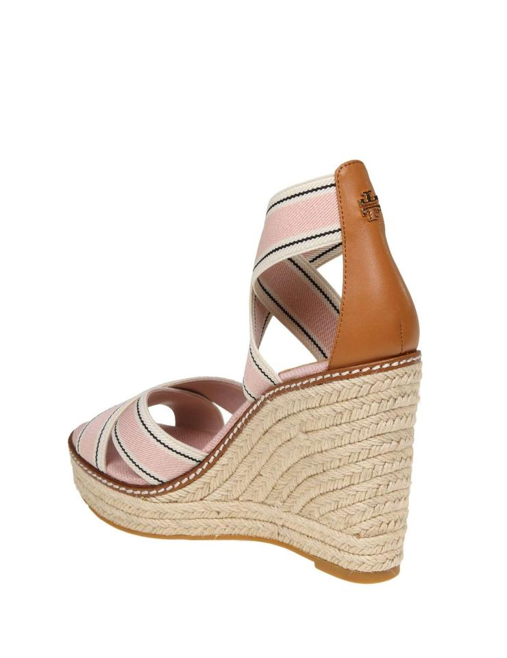 2041862c4 Tory Burch Tan with Tag Frieda Strappy Woven Espadrilles Wedges Size ...