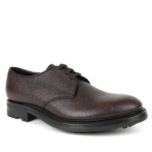 Prada Dark Plum Men's Leather Oxford Dress Uk 7.5 / Us 8.5 2ee228 Shoes