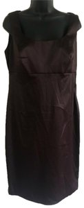 Signature by Robbie Bee short dress brown on Tradesy