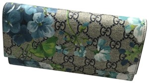 Gucci Gucci Blooms GG Supreme Continental Flap Wallet