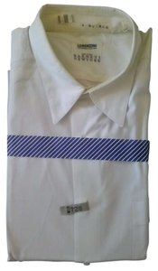 Lorenzini Barneys New York BARNEY'S NEW YORK MEN'S DRESS SHIRT WHITE SIZE L 17 43