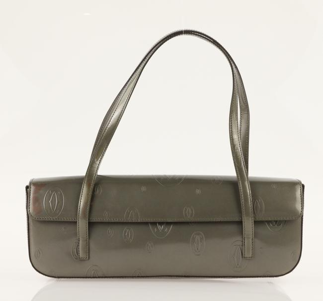Item - Happy Birthday Horizontal Green Leather Shoulder Bag