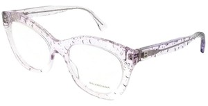 Balenciaga BA5051-072-52 Cat Eye Women's Pink Frame Clear Lens Eyeglasses