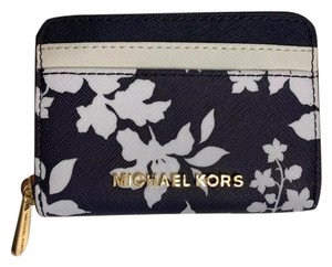 Michael Kors Jet Set Travel Leather Zip Around Card Case Small Wallet