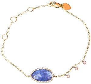 Meira T MEIRA T 14K YELLOW GOLD TANZANITE AND DIAMOND BRACELET