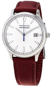 Movado Heritage Index H-Marker S-Steel Leather Quartz Ladies Watch
