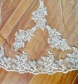 Long White Or Ivory Cathedral Lace Edge 3m/10 Ft 1t with Comb Bridal Veil Image 2