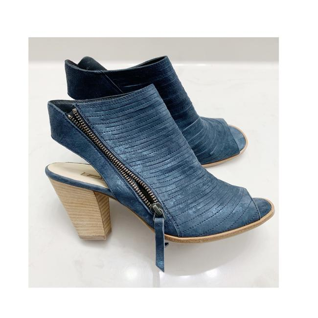 Item - Blue Cayanne Leather Peep Toe Sandals Size US 8.5 Regular (M, B)