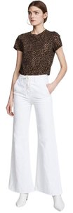 Mother Super Flare Pants White