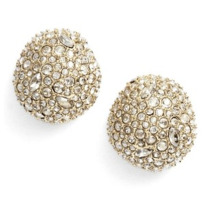 Alexis Bittar NEW 10K Gold Crystal Encrusted Button Earring
