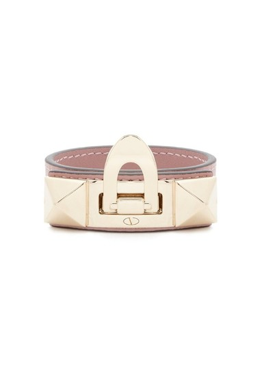 Valentino Small Leather Rockstud Flip-Lock Bracelet Image 0