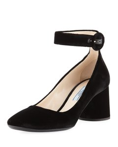 b967176d9bc Prada Black Velvet Block-heel Ankle-wrap Pumps Size EU 38 (Approx. US 8)  Regular (M, B) 69% off retail