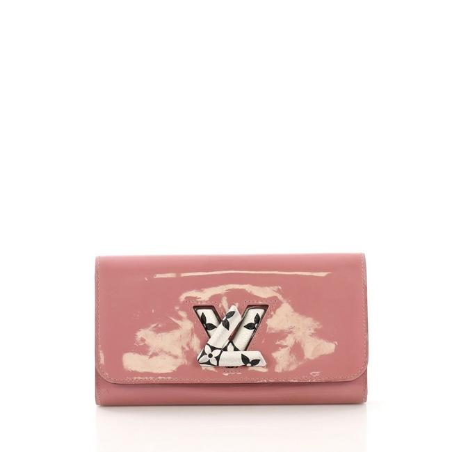 Item - Long Twist Wallet Vernis with Monogram Canvas Pink Patent Leather Clutch