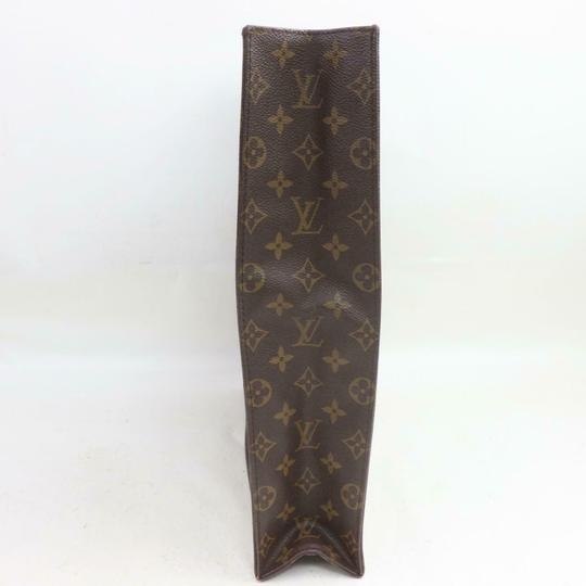 Louis Vuitton Canvas Leather Monogram Tote in Brown Image 2