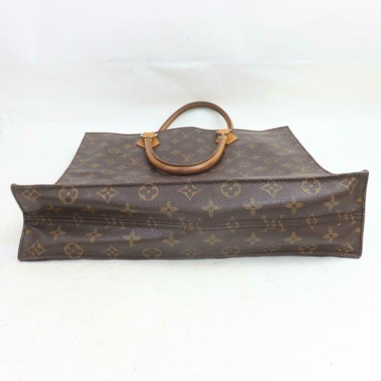 Louis Vuitton Canvas Leather Monogram Tote in Brown Image 3