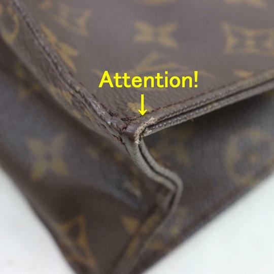Louis Vuitton Canvas Leather Monogram Tote in Brown Image 5