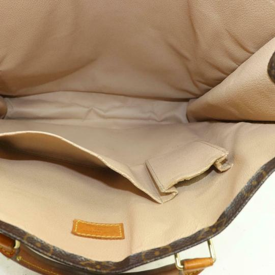 Louis Vuitton Canvas Leather Monogram Tote in Brown Image 6