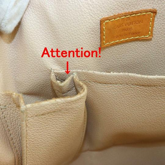 Louis Vuitton Canvas Leather Monogram Tote in Brown Image 7