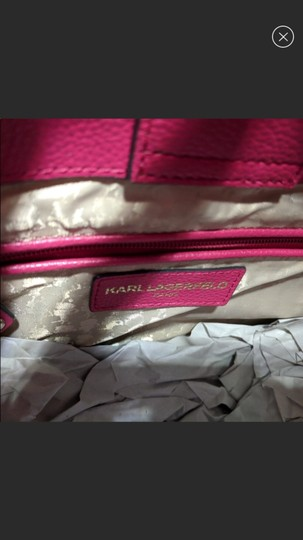 Karl Lagerfeld Tote in Hot Pink Image 3