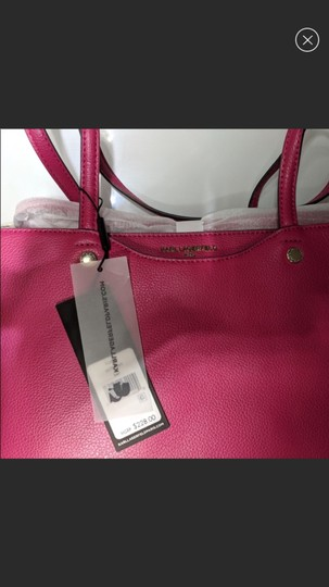 Karl Lagerfeld Tote in Hot Pink Image 5