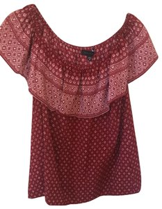 Sanctuary Top Red, White