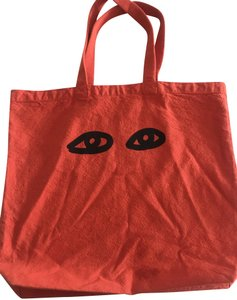 Clare V. Shopping Beach Cotton Made In Usa Tote in Poppy