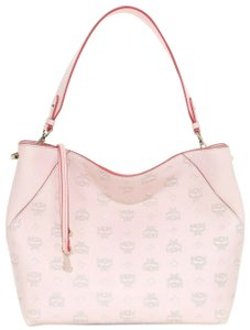 MCM Summer Leather Hobo Tote in Pink