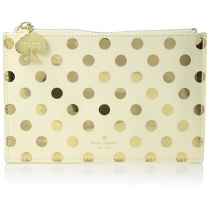 Kate Spade Kate Spade New York Vinyl Pencil Pouch, Gold Dots