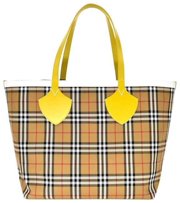 Item - Giant Reversible Large Yellow Canvas Tote