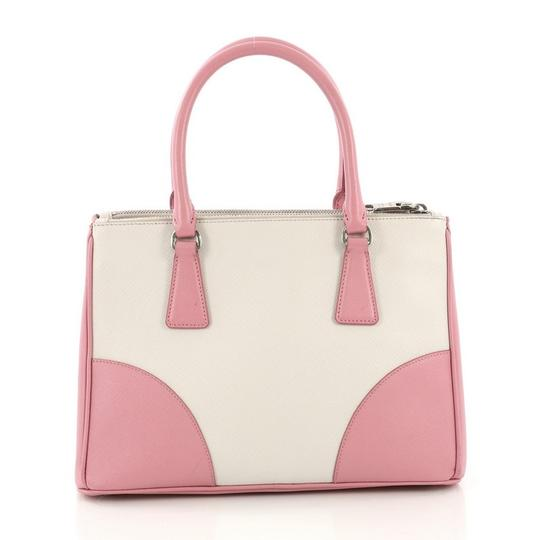 Prada Leather Tote in pink and white Image 3