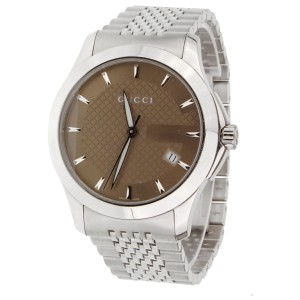 Gucci Gucci G Timeless Stainless Steel Mens Watch 1232