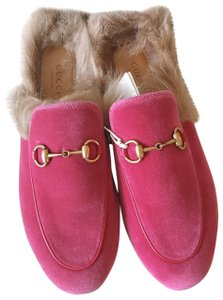 Gucci Loafers Flats Princetown Fur Princetown Fur Princetown Pink Mules